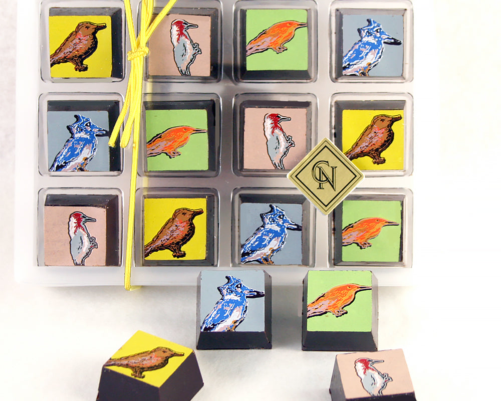 12 Pieces Songbirds Chocolate Box by Christopher Norman Chocolates