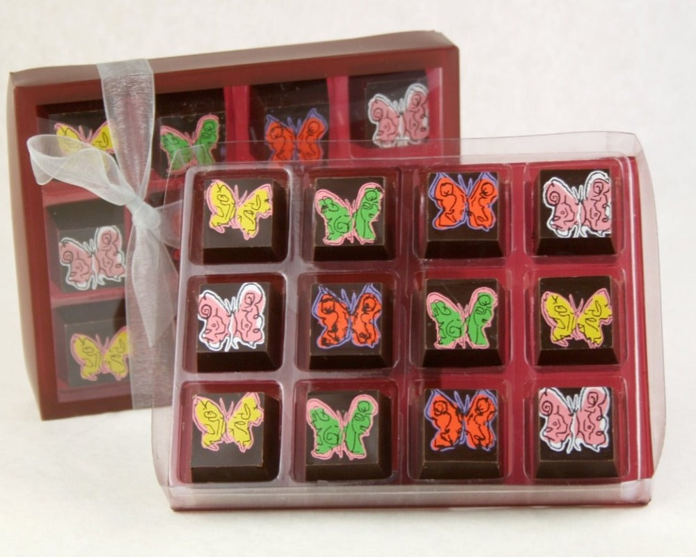 Chocolate Butterflies (box of 12) by John Down