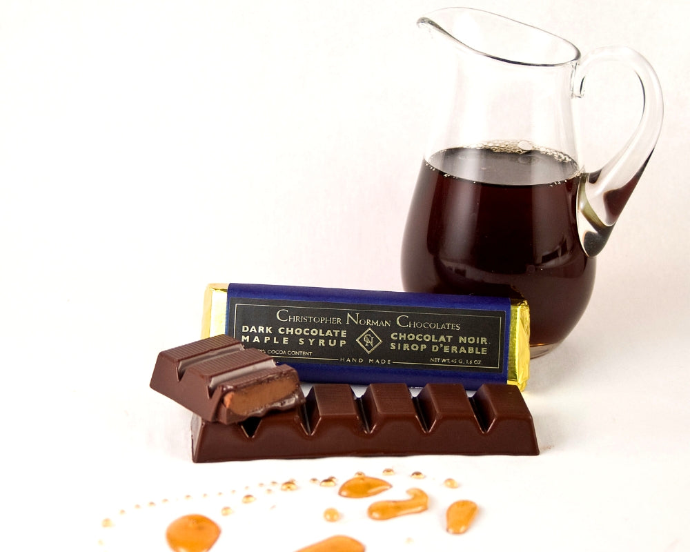 Dark Chocolate Maple Syrup Bar by Christopher Norman Chocolates
