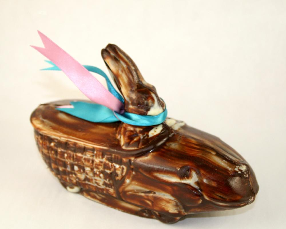 Marbleized Chocolate Racer Bunny by Christopher Norman Chocolates