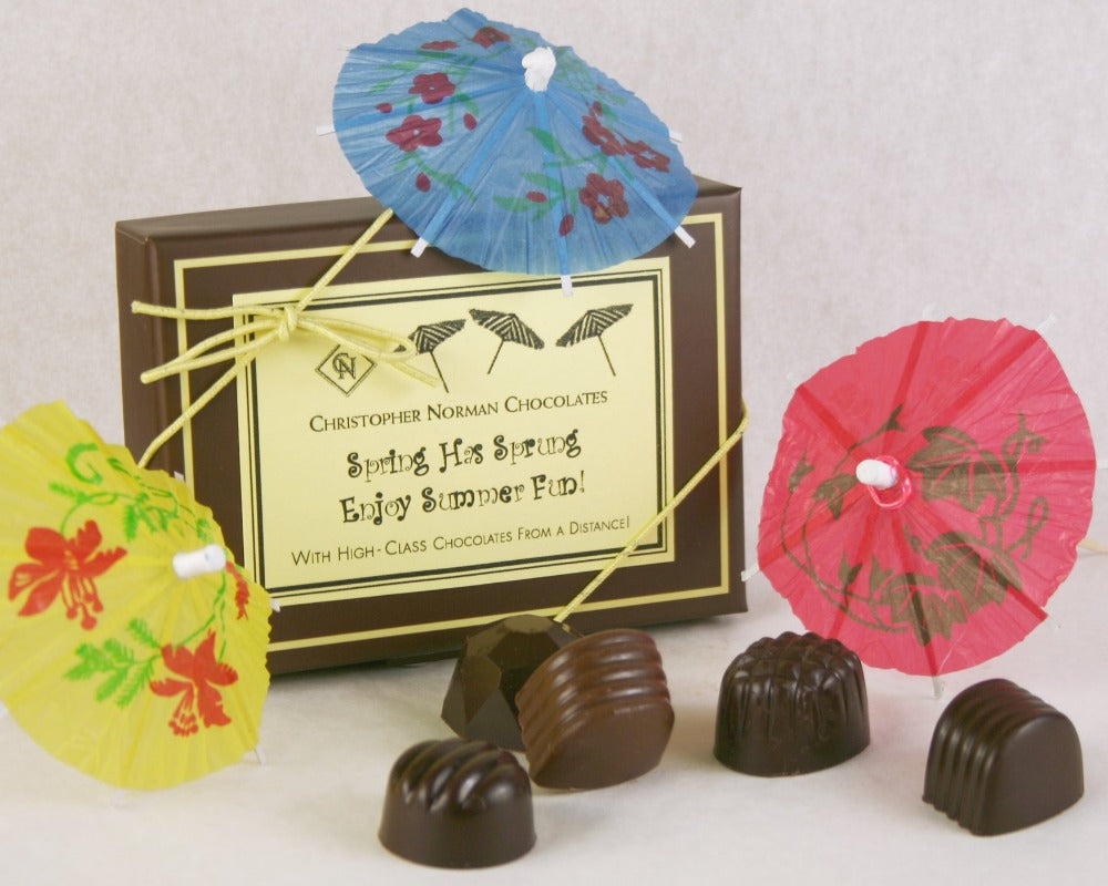 Summer at a Distance Chocolate Box of 8 Truffles by Christopher Norman Chocolates, Halfmoon Bay BC