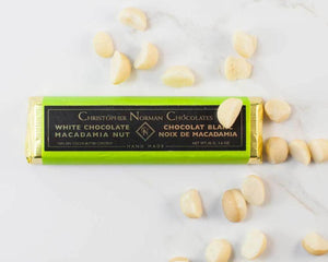 White Chocolate Macademia Bar by Christopher Norman Chocolates