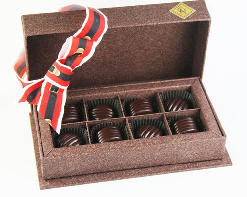 Christmas: Wine Box of Dark Chocolate 8 Pieces