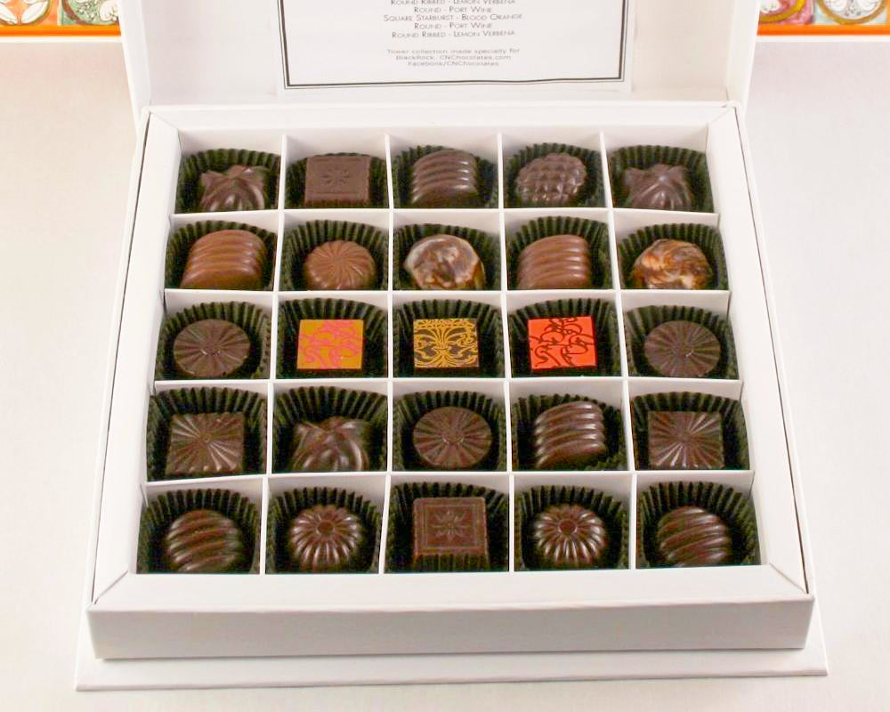 25 Pieces Gift Box of Chocolates by Christopher Norman Chocolates.