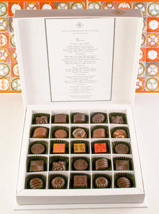 25 Pieces Gift Box of truffle Chocolates by Christopher Norman Chocolates.