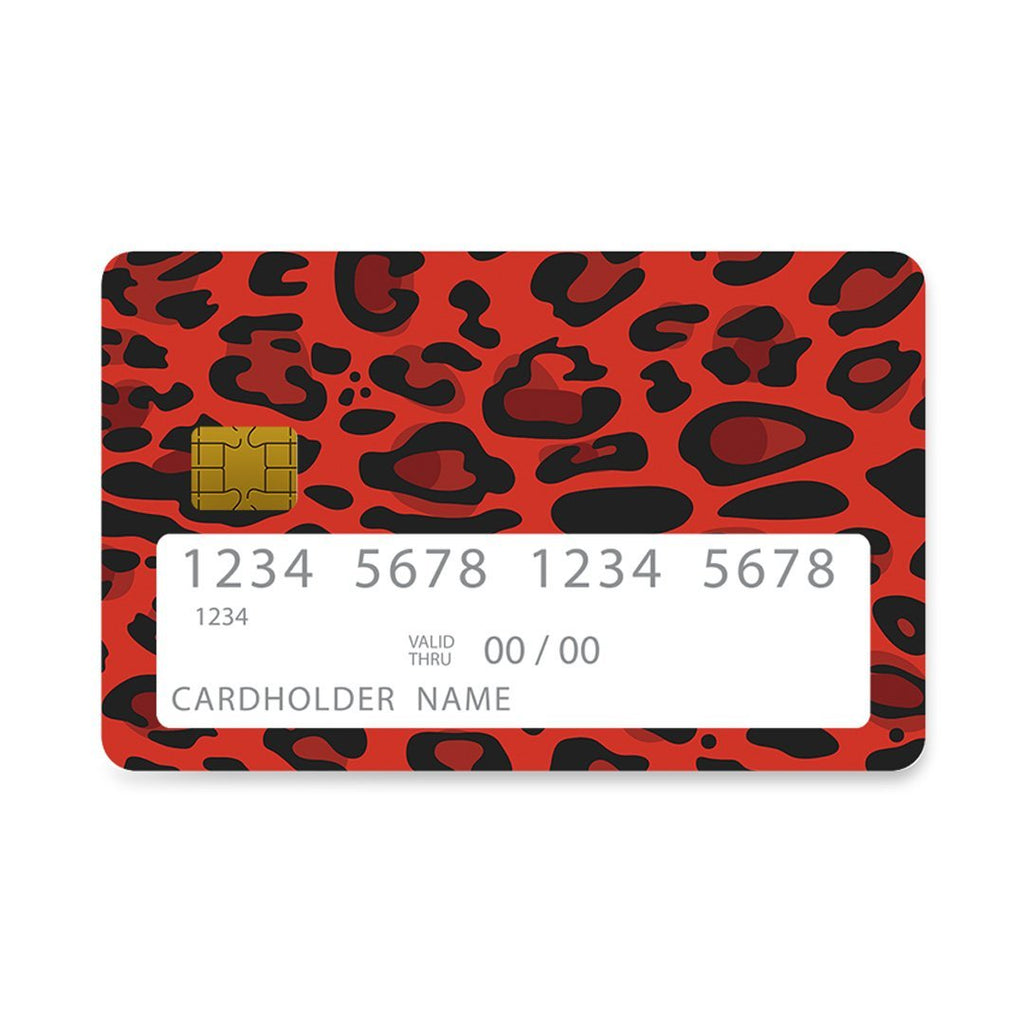4 - Bank Card Red Leopard Animal case, cover, bumper