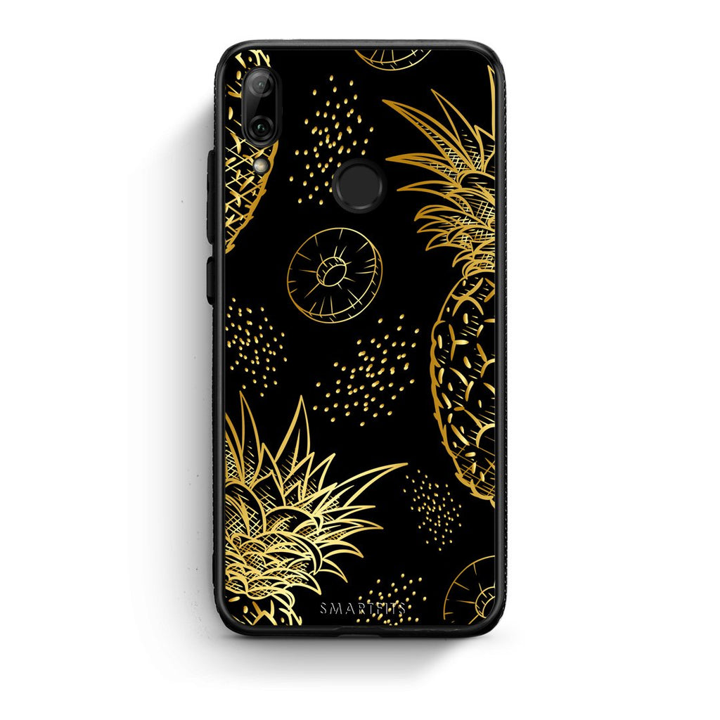 99 - Huawei P Smart 2019  Tropic Gold Pineapple case, cover, bumper