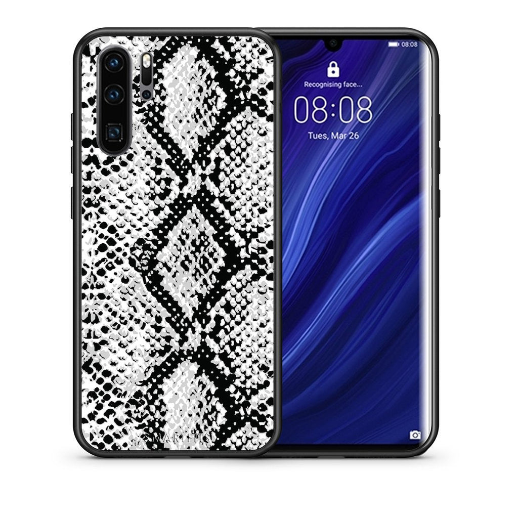 24 - Huawei P30 Pro  White Snake Animal case, cover, bumper