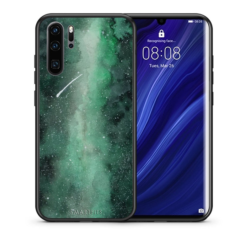 Galaxy Green - Huawei P30 Pro Case +FREE Ring Holder