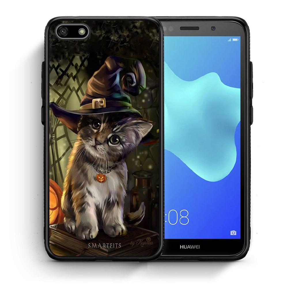 Halloween Kitty - Huawei Y5 2018/Honor 7S Case +FREE Ring Holder