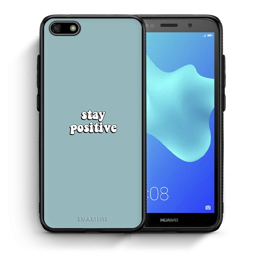 Text Positive - Huawei Y5 2018/Honor 7S Case +FREE Ring Holder