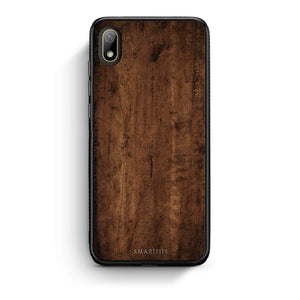 84 - Huawei Y5 2019 Dark Wood case, cover, bumper