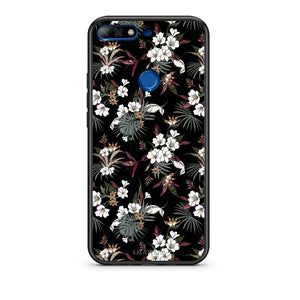 65 - Huawei Y7 2018 Night Flower Floral case, cover, bumper