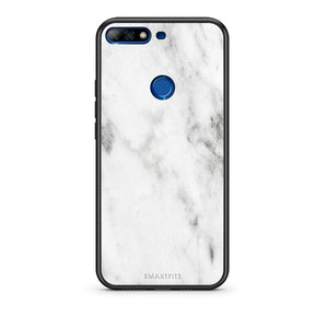 2 - Huawei Y7 2018 White marble case, cover, bumper