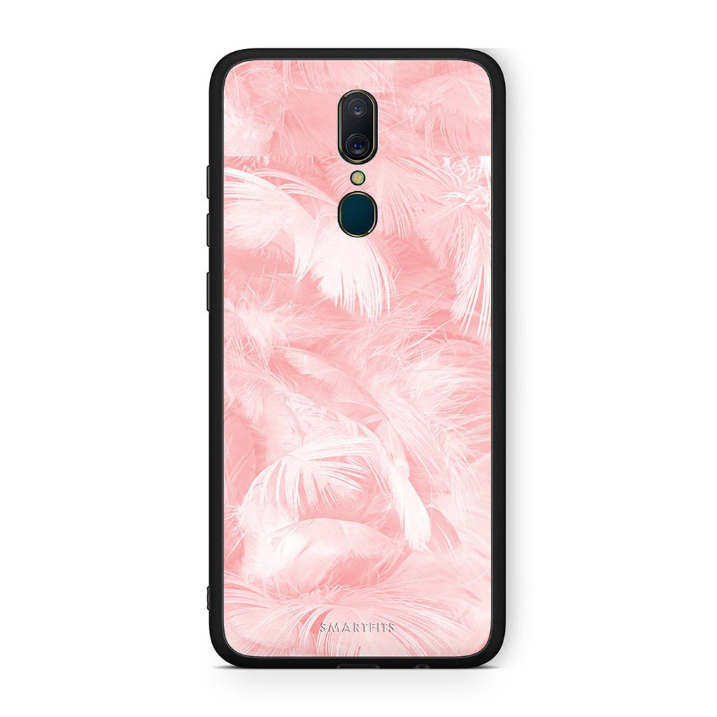 33 - Oppo A9  Pink Feather Boho case, cover, bumper