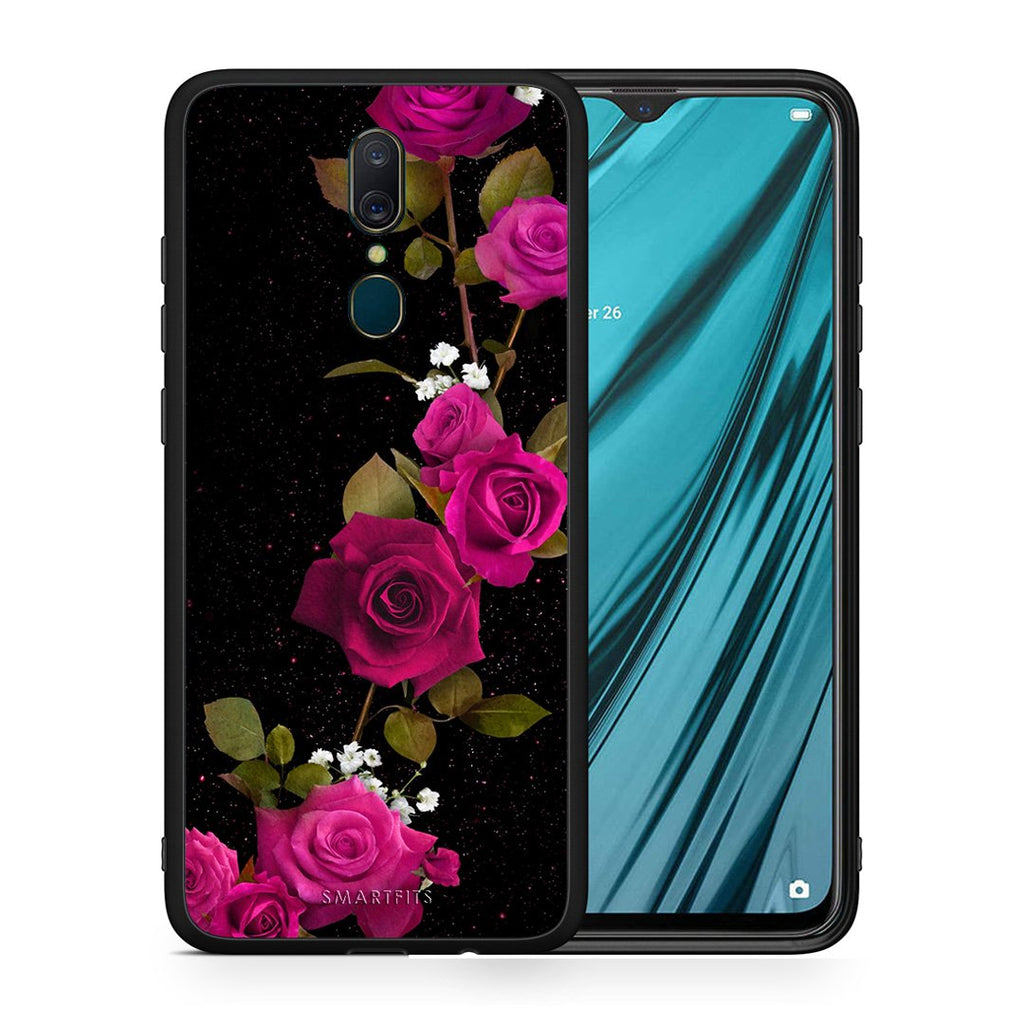 4 - Oppo A9 Red Roses Flower case, cover, bumper