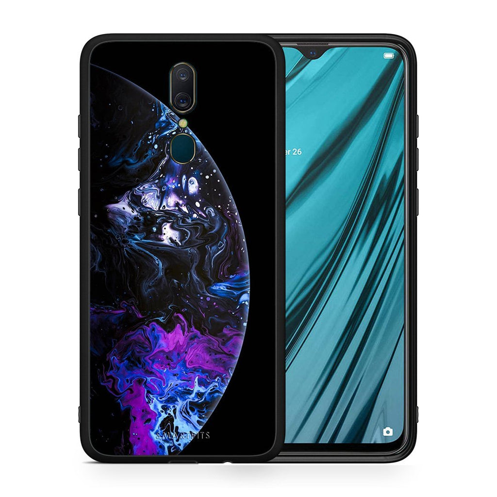 4 - Oppo A9 Black Galaxy case, cover, bumper
