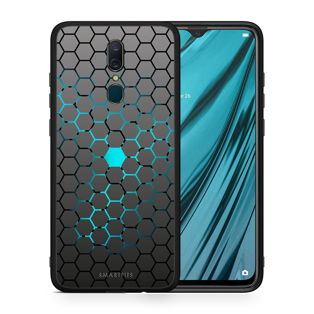 40 - Oppo A9  Hexagonal Geometric case, cover, bumper