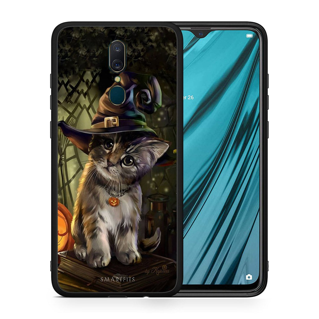 4 - Oppo A9 Kitty Halloween case, cover, bumper