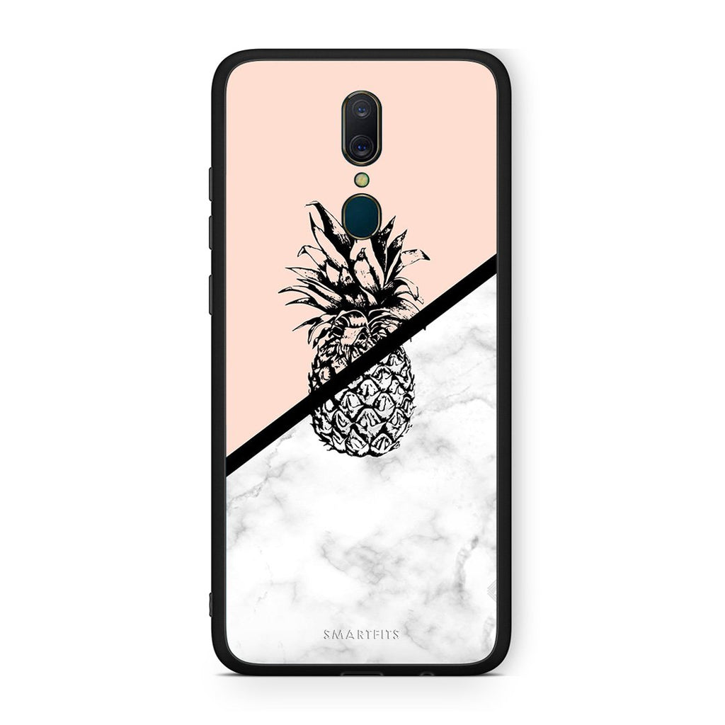 4 - Oppo A9 Pineapple Marble case, cover, bumper