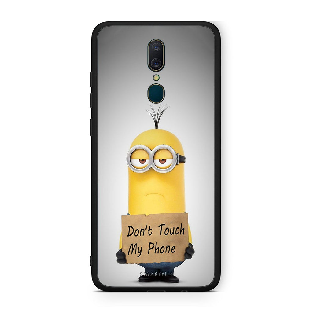 4 - Oppo A9 Minion Text case, cover, bumper