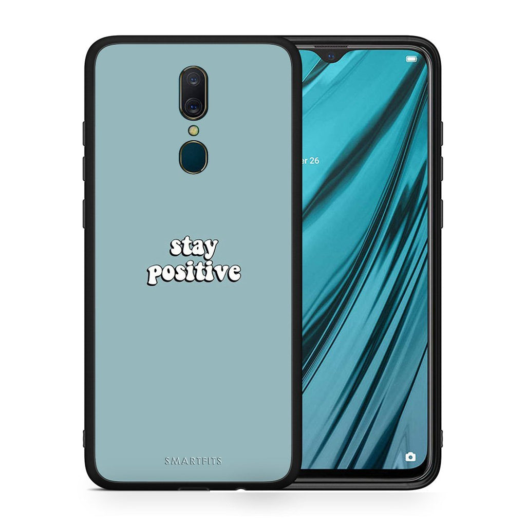 4 - Oppo A9 Positive Text case, cover, bumper