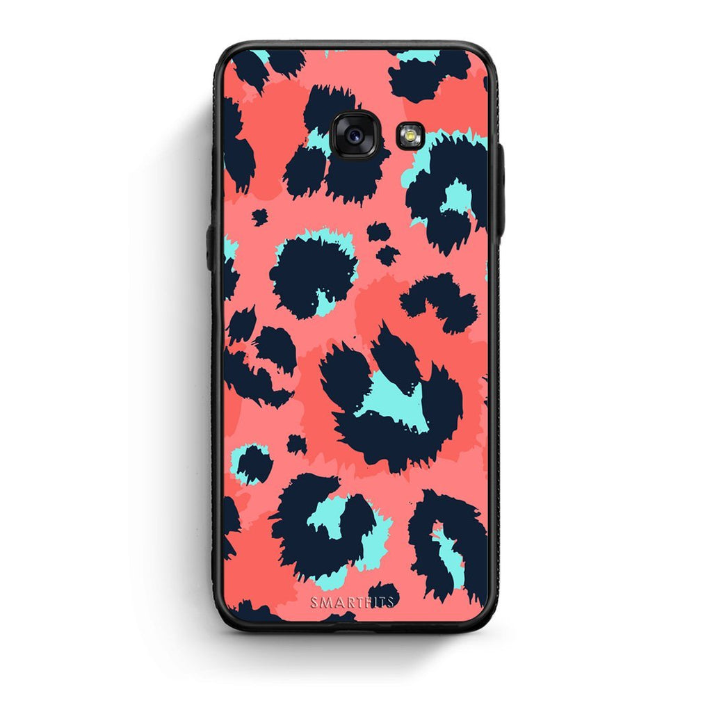 22 - Samsung A3 2017 Pink Leopard Animal case, cover, bumper