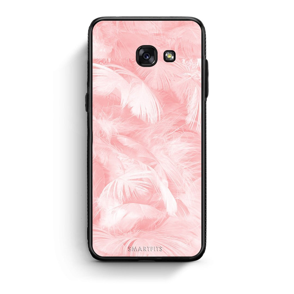 33 - Samsung A3 2017 Pink Feather Boho case, cover, bumper