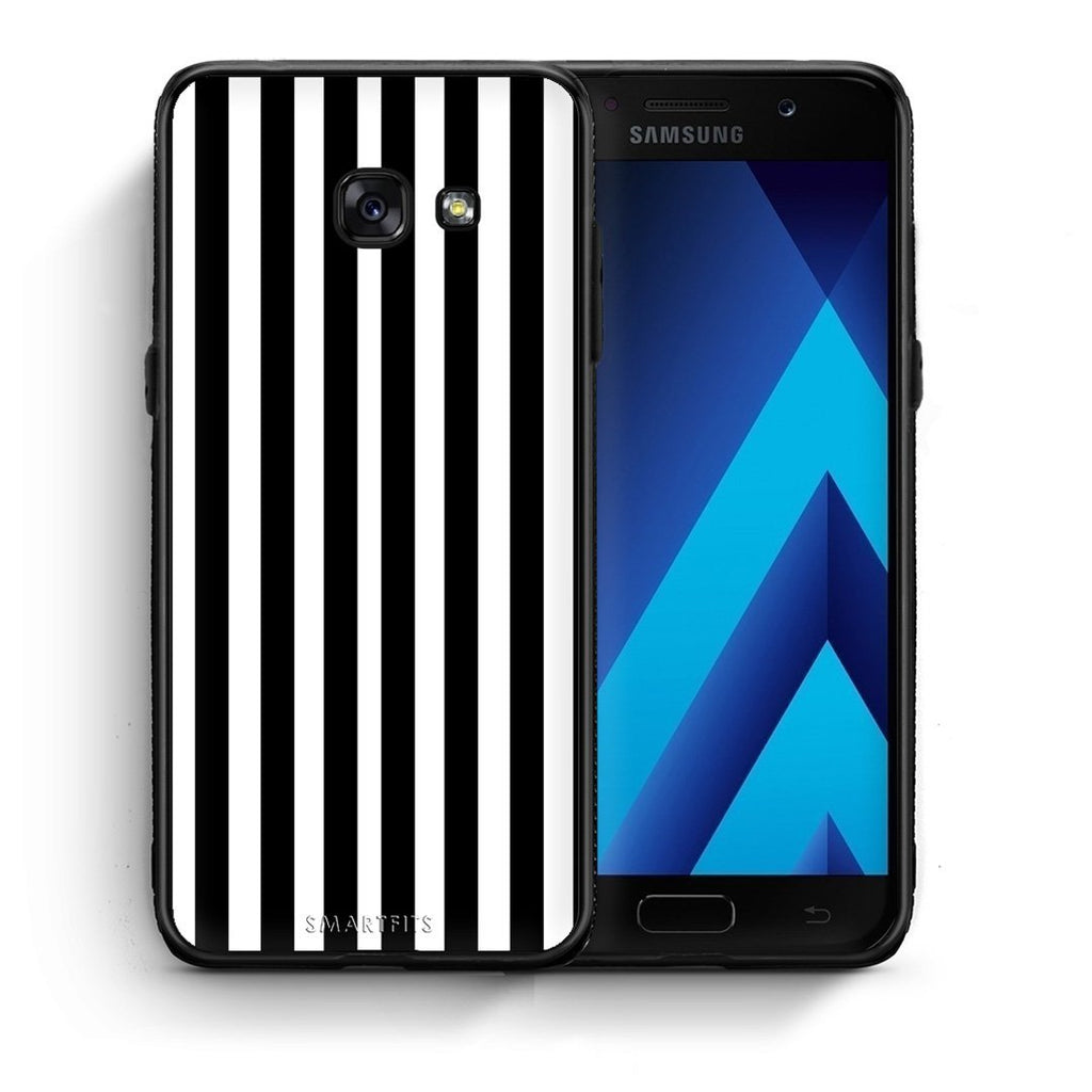 47 - Samsung A3 2017 Black Stripes Checked case, cover, bumper