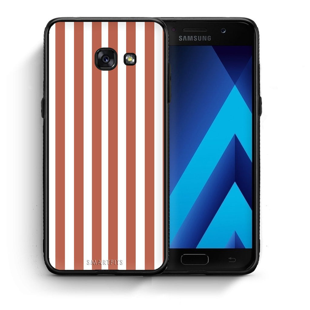 48 - Samsung A3 2017 Nude Stripes Checked case, cover, bumper