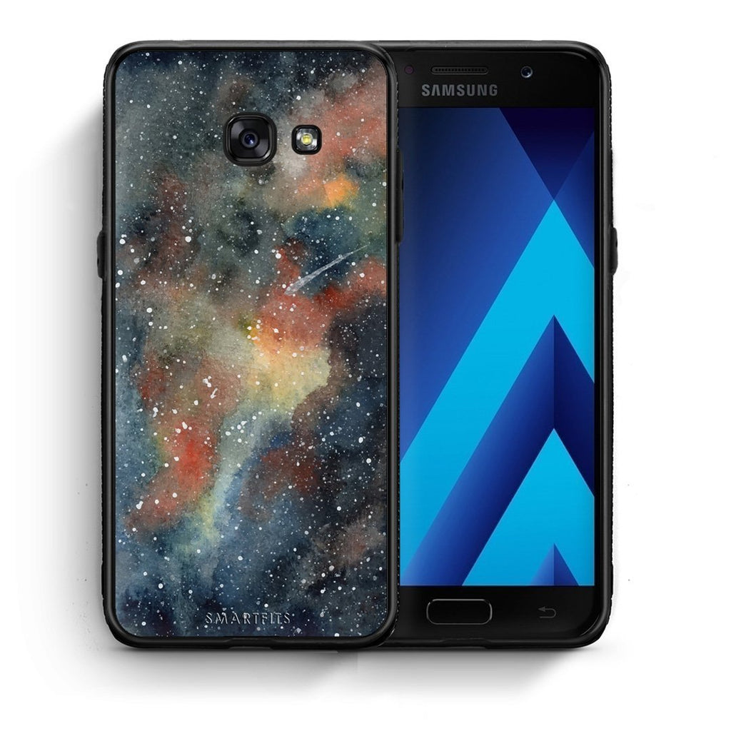 49 - Samsung A3 2017 Blue Galaxy case, cover, bumper