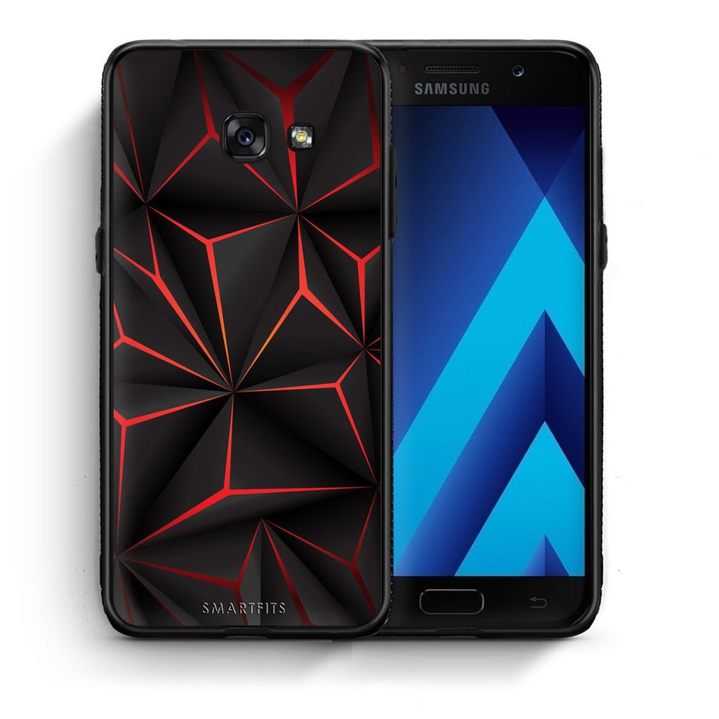 37 - Samsung A3 2017 Black Future Geometric case, cover, bumper