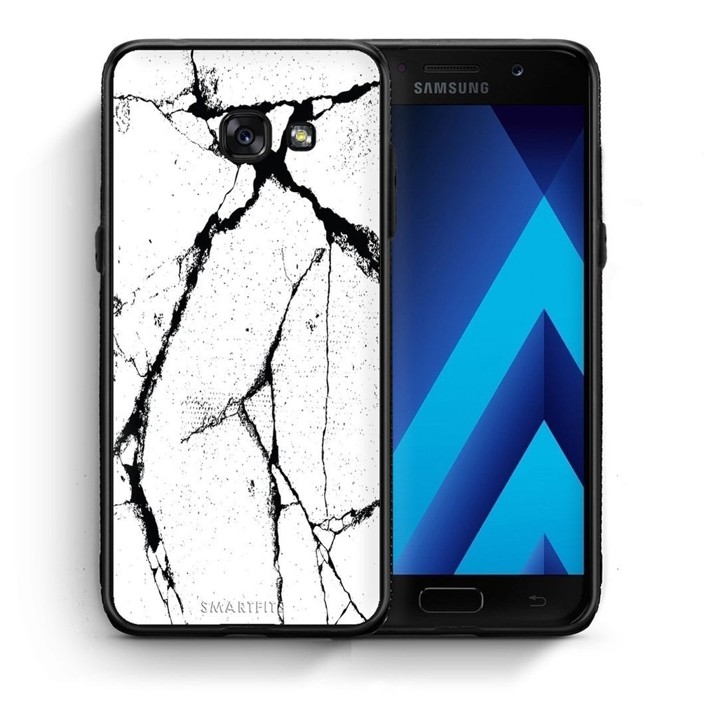 13 - Samsung A3 2017 Cracks Marble case, cover, bumper
