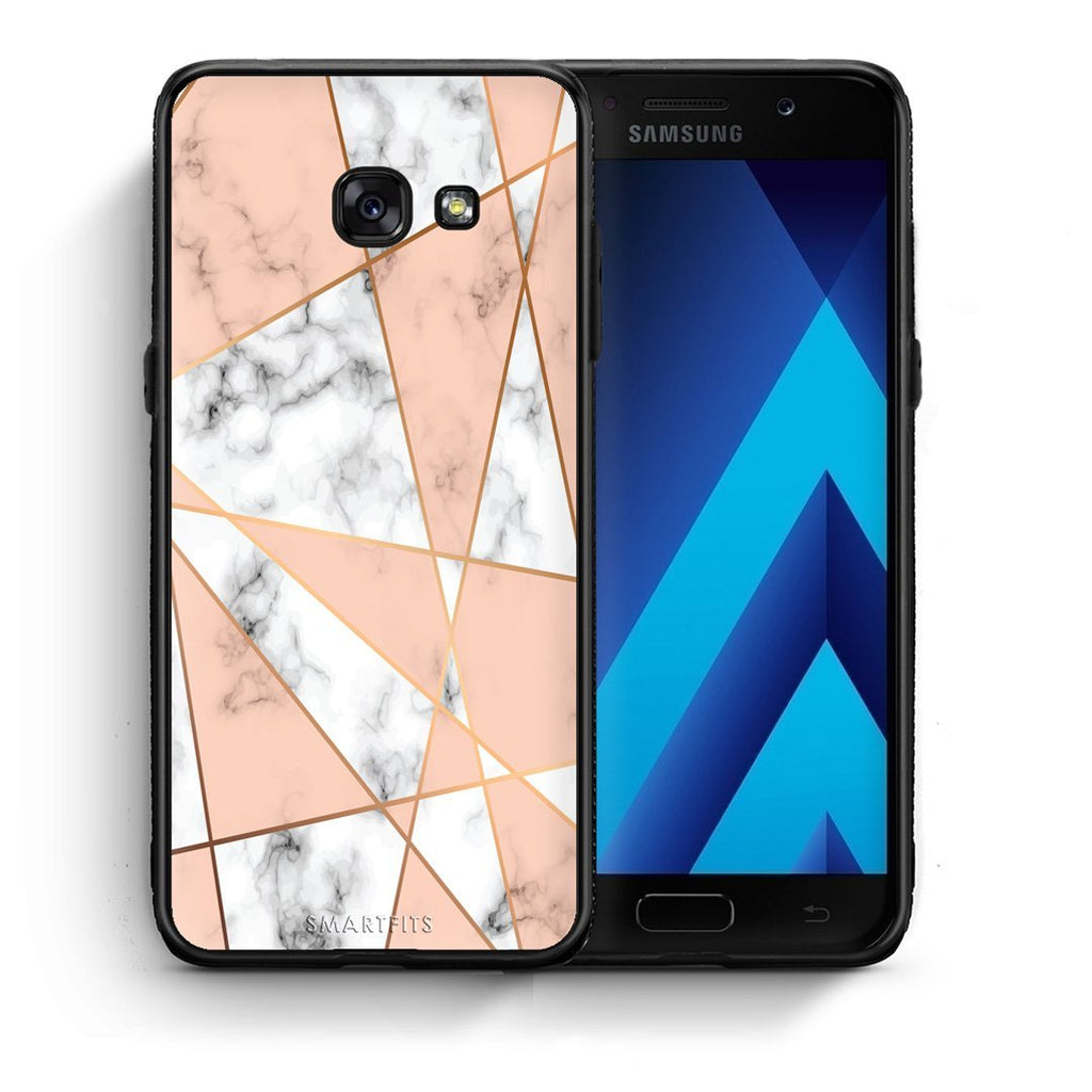 15 - Samsung A3 2017 Geometric Pink Marble case, cover, bumper