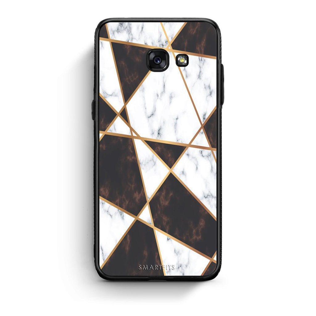 16 - Samsung A3 2017 Gold Chess Marble case, cover, bumper