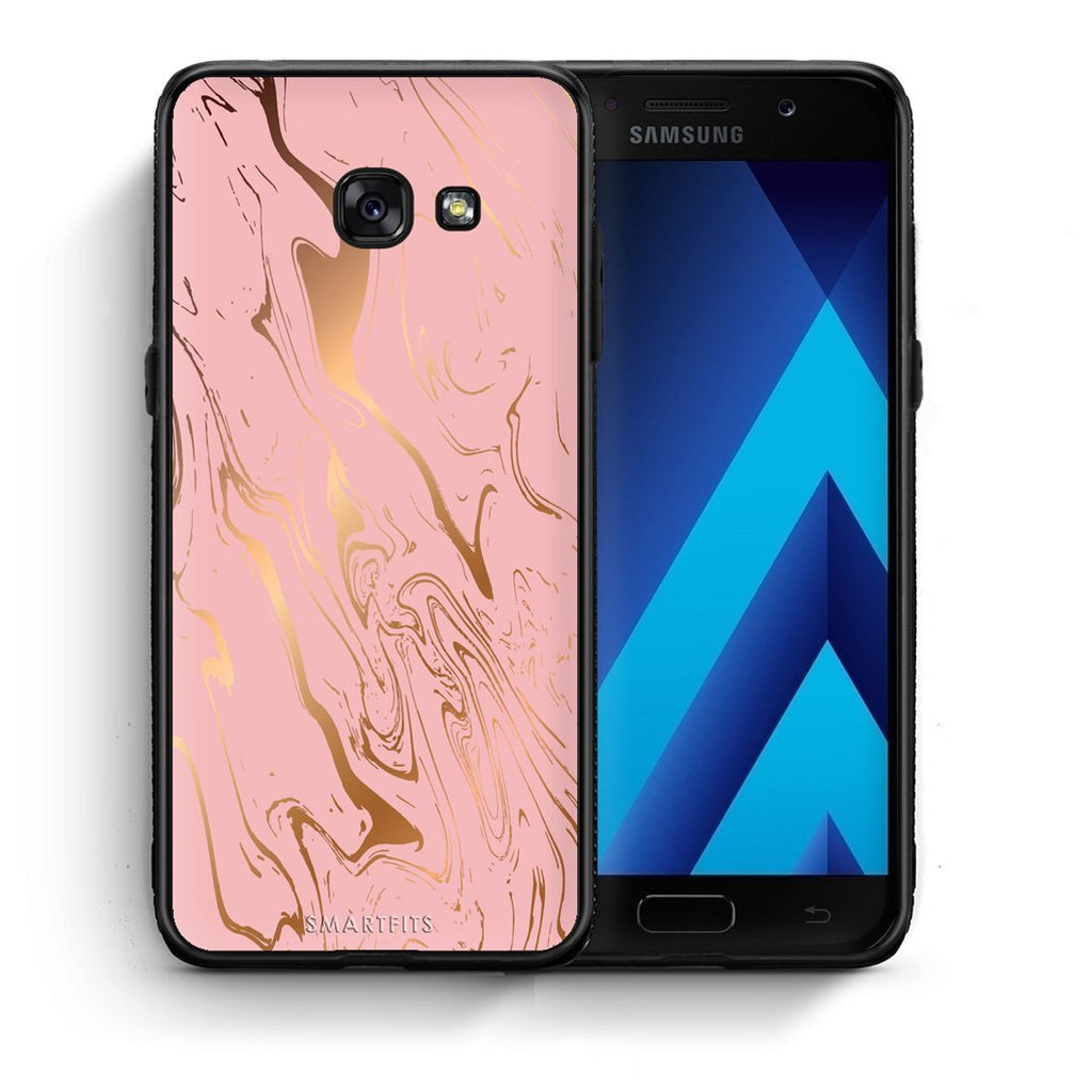 42 - Samsung A3 2017 Rosegold Marble case, cover, bumper