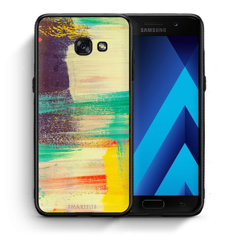 59 - Samsung A3 2017 Painted Wall Stone case, cover, bumper