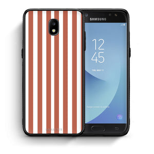 48 - Samsung J3 2017 Nude Stripes Checked case, cover, bumper