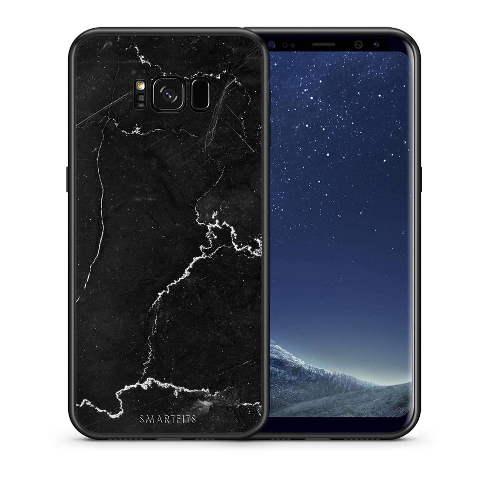 1 - samsung galaxy s8 plus black marble case, cover, bumper