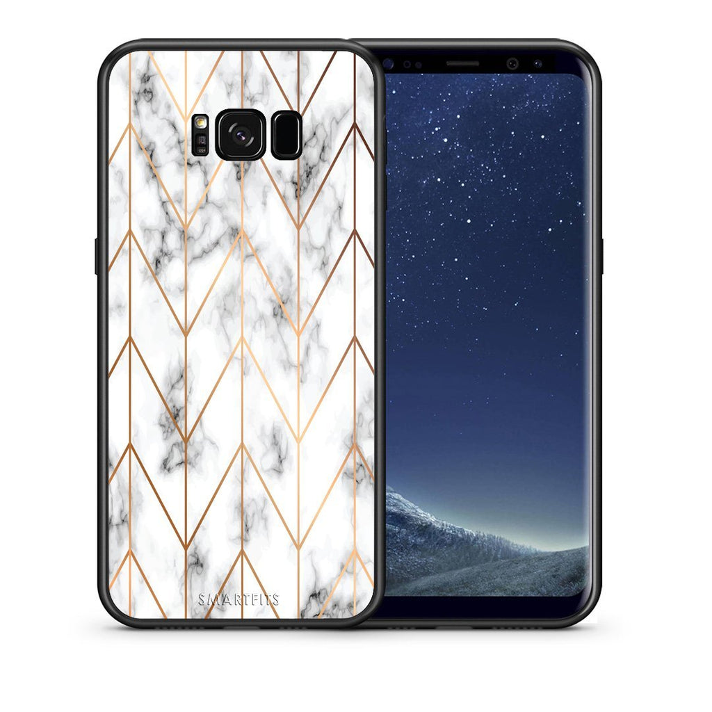 44 - samsung galaxy s8 plus Gold Geometric Marble case, cover, bumper
