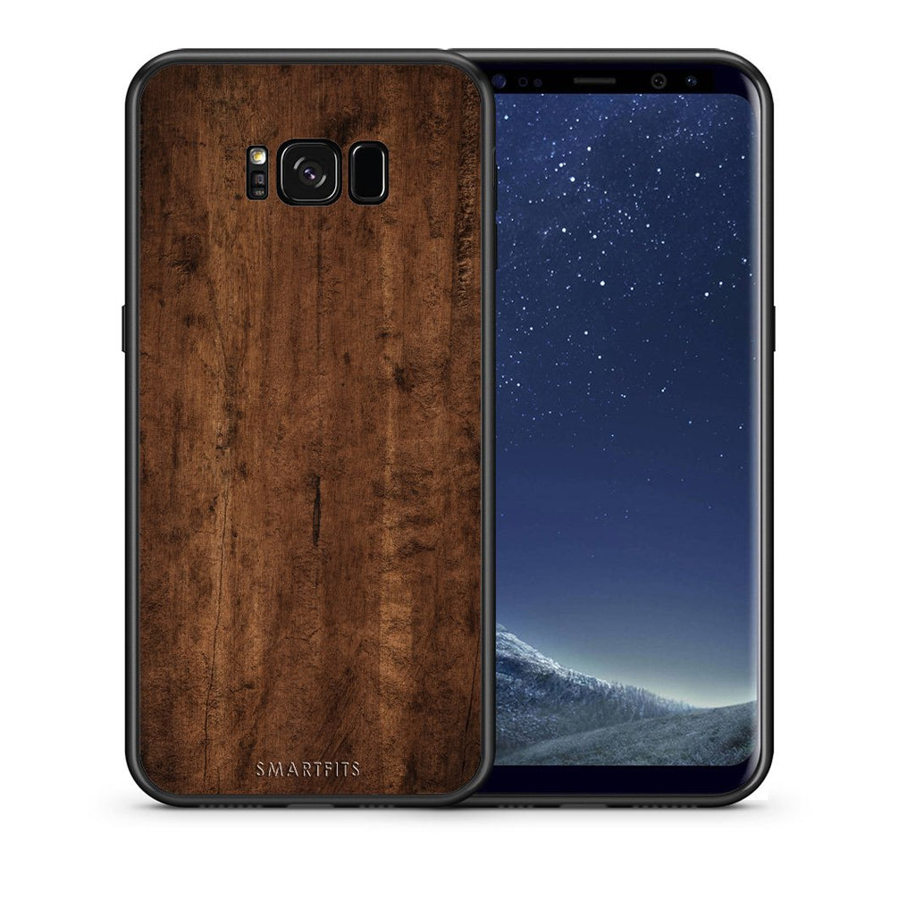 84 - samsung galaxy s8 plus Dark Wood case, cover, bumper