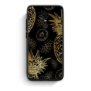 99 - Xiaomi Redmi 5 Tropic Gold Pineapple case, cover, bumper