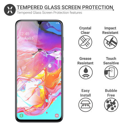 Premium Tempered Glass-Screen Protector for Samsung A70