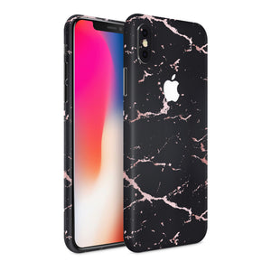 iPhone Xs Max Black Rosegold Marble