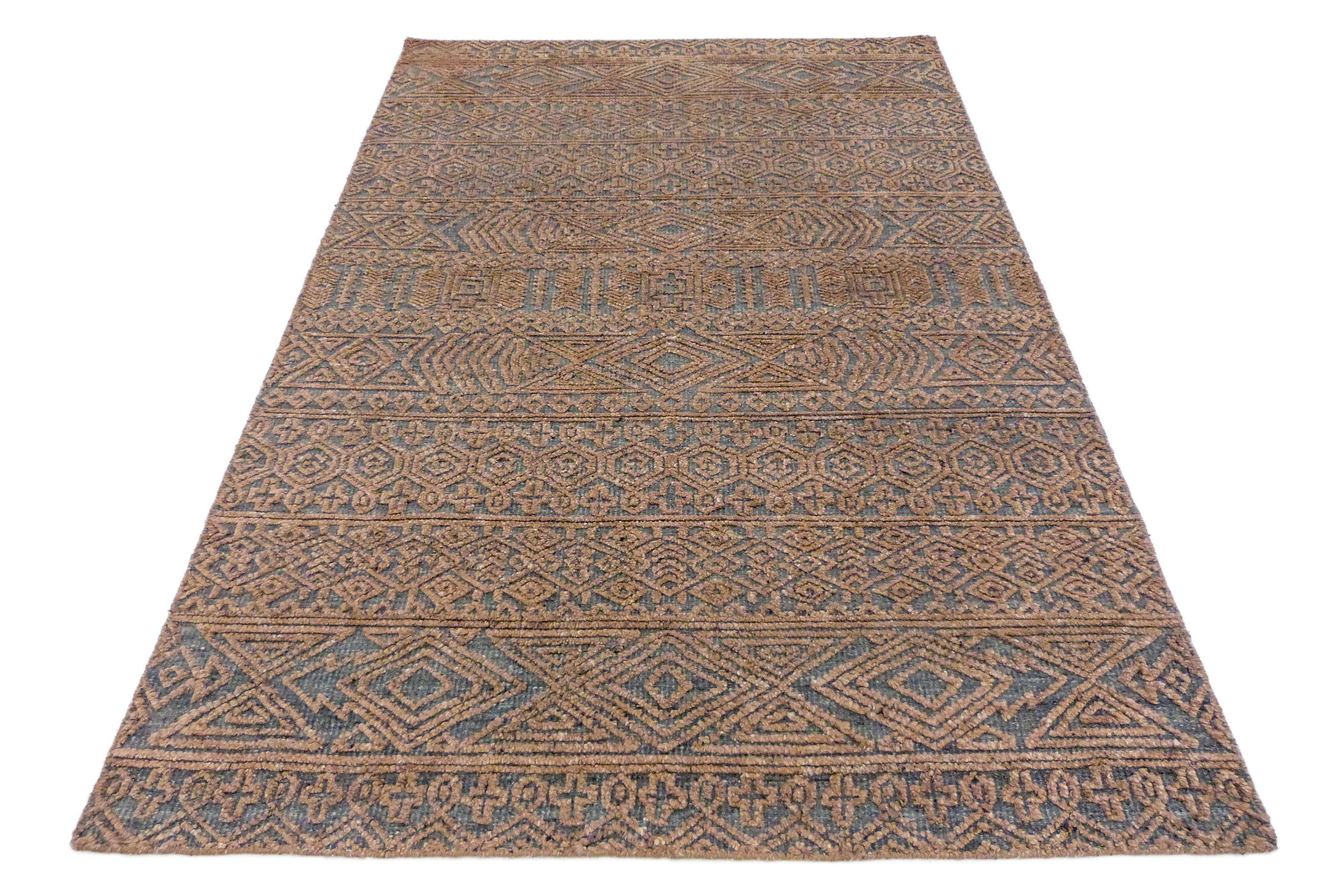 "Bohemian Unique Area Rug Hand-Woven Braided Flatweave rug , 5'3"" x 7'6"" Unique Handmade Kilim rug Home decor with free shipping SP448"