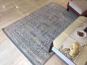"Gift Persian Gray Rug for christmas, Antique design Living Room Rug, Oriental Handmade Area Rug, Tribal Home Decor 5'3"" X 7'6"" JK914"