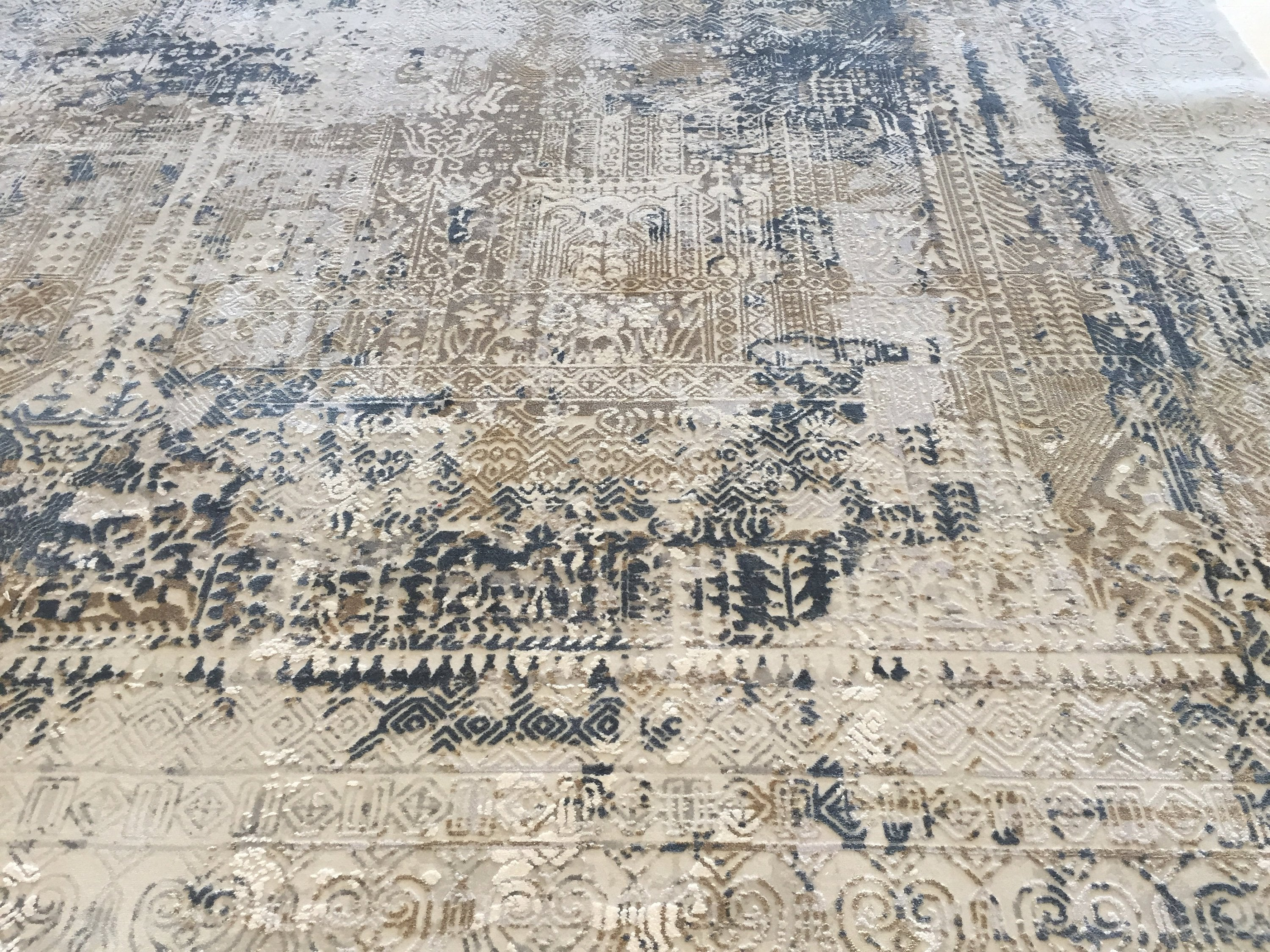 "Distressed Faded Tribal Persian Vintage looking Home Decor Rug, Wool Hand knotted Geometric Rug, Rustic colorful Area Rug 6'6"" X 9'6"" MC2"
