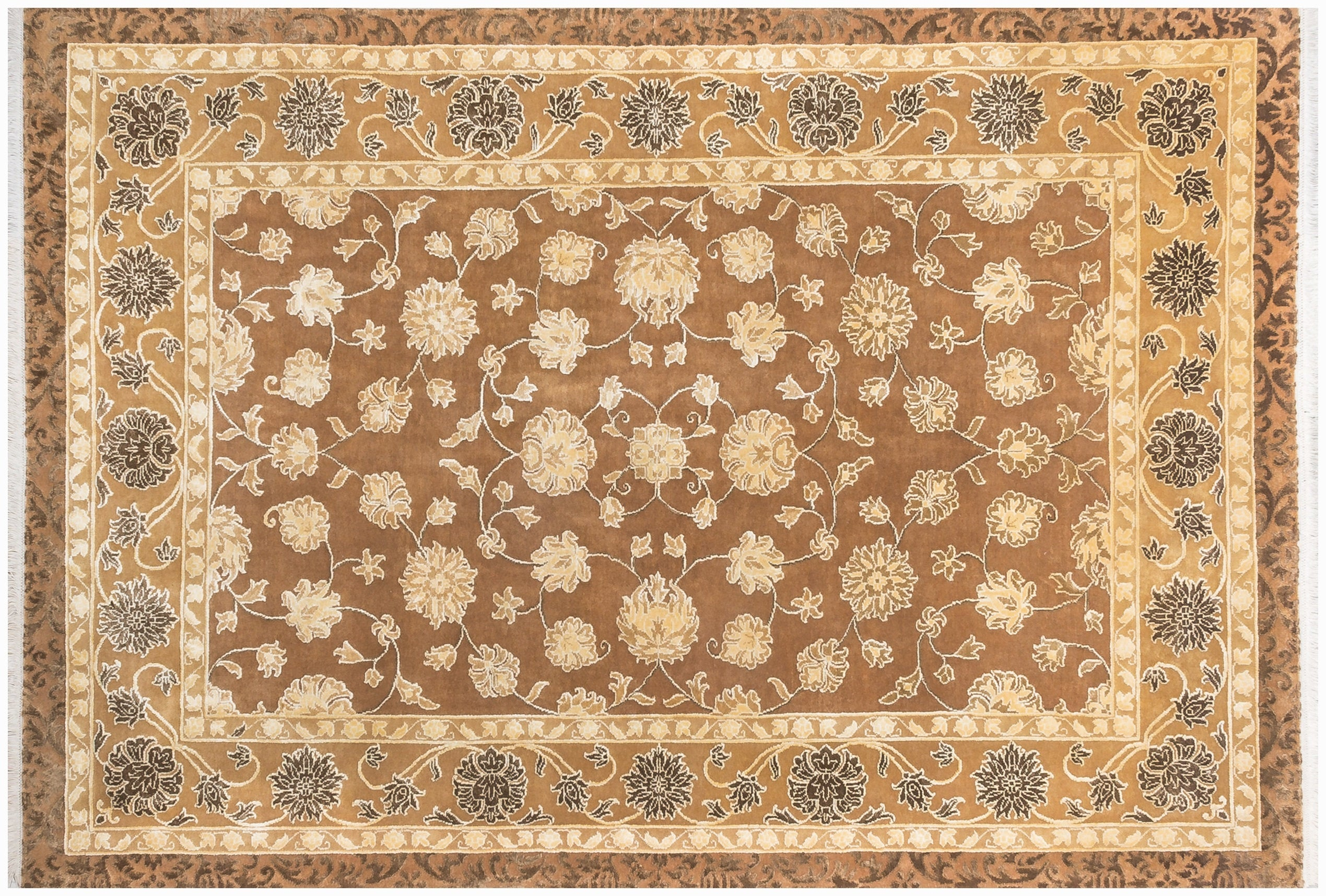 Oriental Rugs Beige Brown Geometric And Floral Traditional