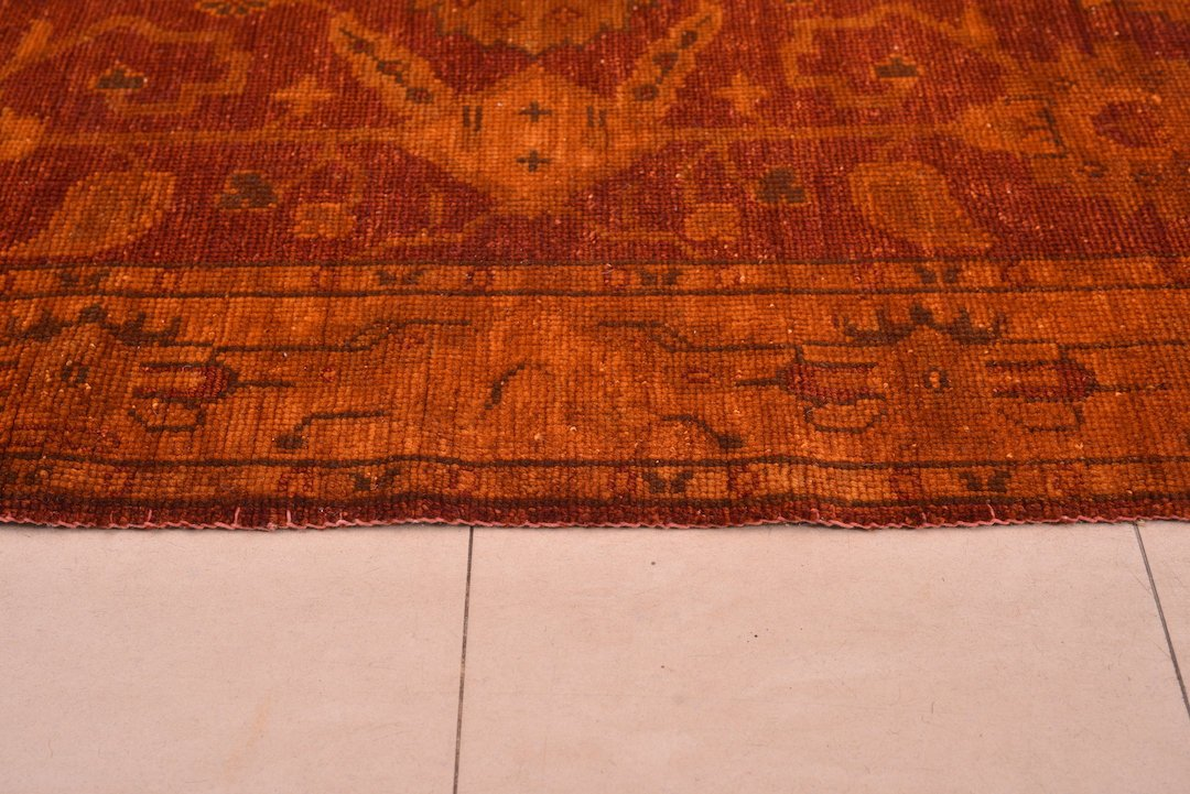 "Persian Area Rug Brown Hand Knotted Vintage, Antique Kitchen Decor Rustic Home Decor Rug, Oriental Antique Rug , perisa 4'5"" x 6'5"" , 333"