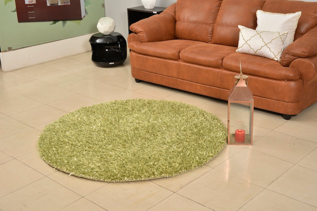 "Flokati Rug, Fuzzy Woven Rug,Premium Green Shag Fur Area Rug,Bed Room Decor,Home Accents,Modern Shaggy Carpet,Long Piles Throw Rug 5'3"" ,409"